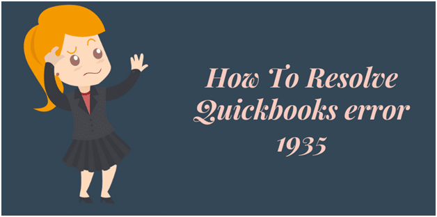 Resolve Quickbooks error 1935