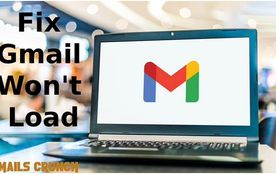 Gmail won't load in Chrome